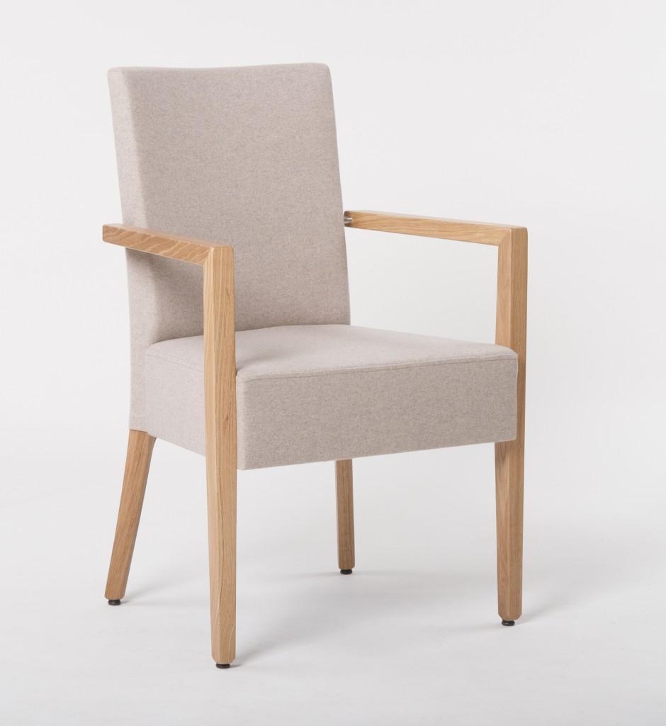Polsterstühle klassisch der hochwertig verarbeitete Stuhlsessel Calx mit oder ohne Armlehne