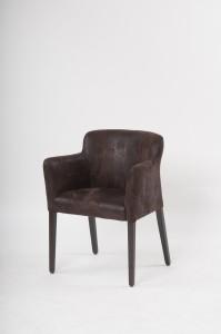 Bequeme Stühle punkten: Vollpolstersessel Marie mit hochwertigem Lederbezug