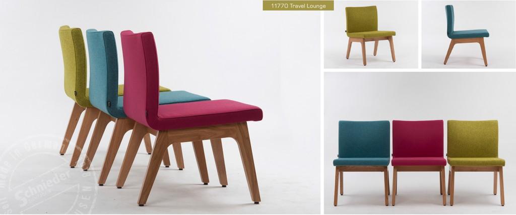 Lounge Sessel Travel, Sitzschale weich gepolstert, niedrige Sitzhöhe 42 cm. Stühle mit Sitzschalen
