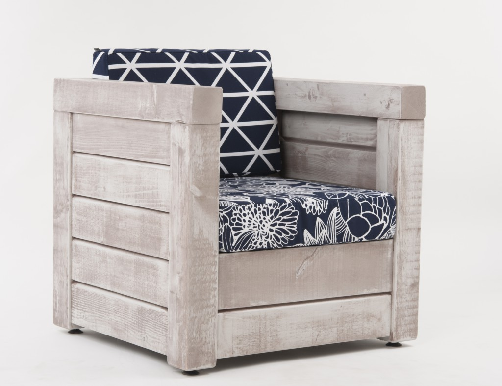 Terrassenmöbel Schön auch als Einzelstück: der kubische Sessel
