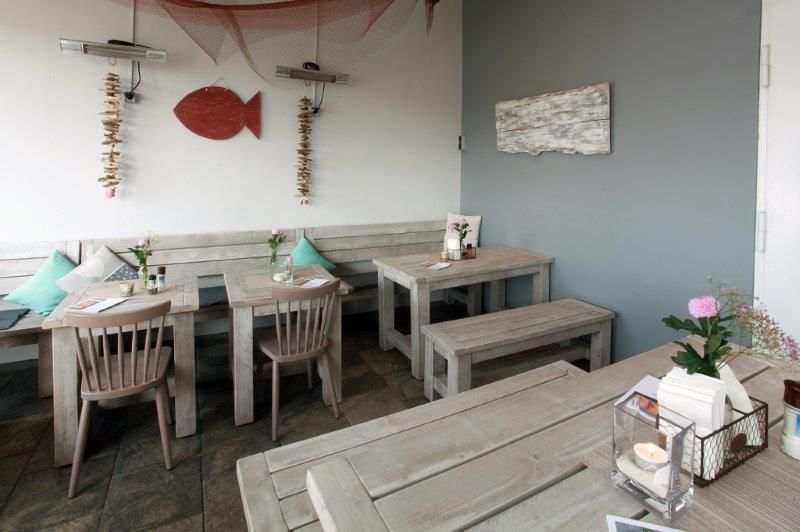 Outdoor-Möbel Fisch-frisch inszeniert