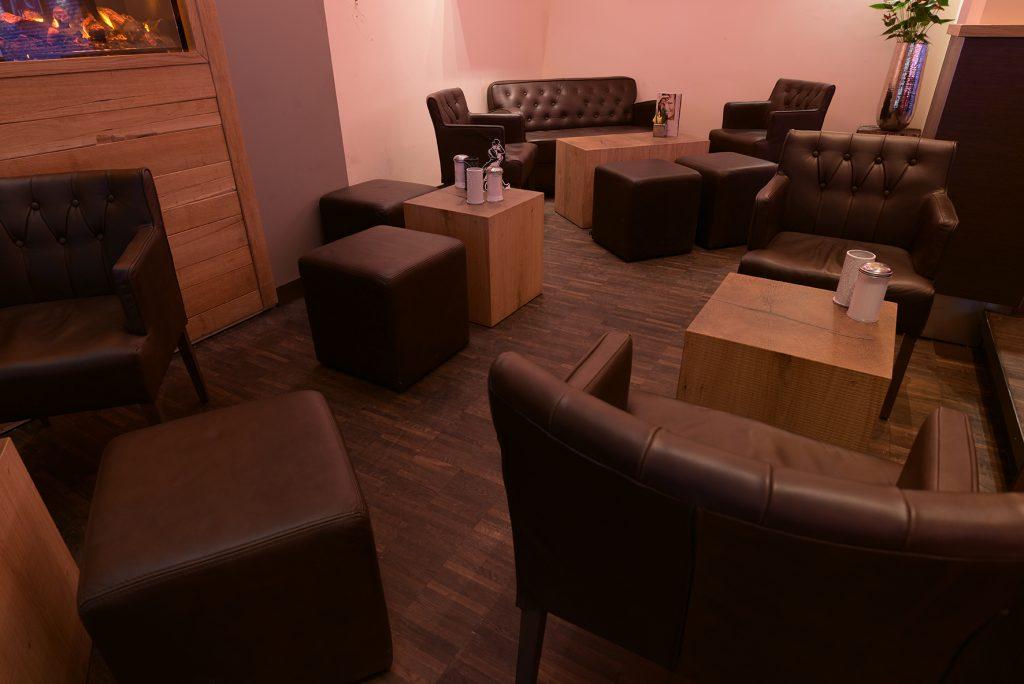 Lounge Leder Knopfheftung
