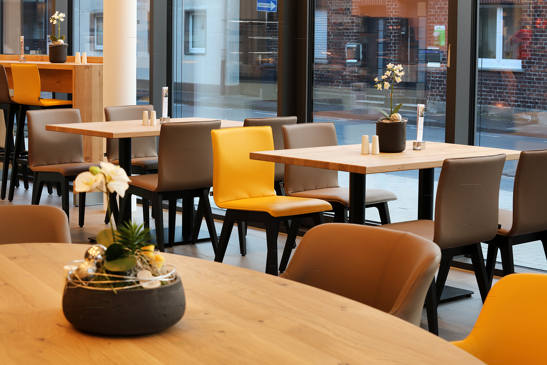Sonniges Restaurant & Café für ein Gesundheitszentrum