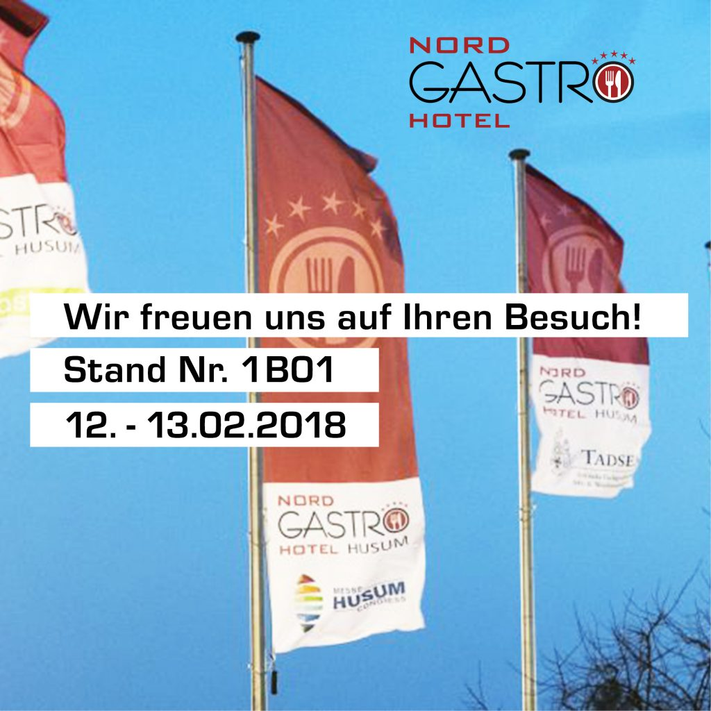Nord Gastro & Hotel in Husum 12.02.2018 – 13.02.2018, Stand 1B01