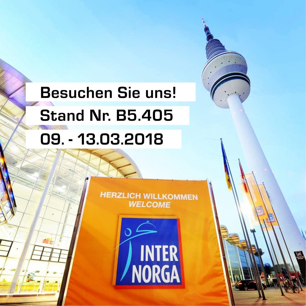 Internorga Messe Hamburg 09. - 13.03.2018 - Halle 5, B5.405