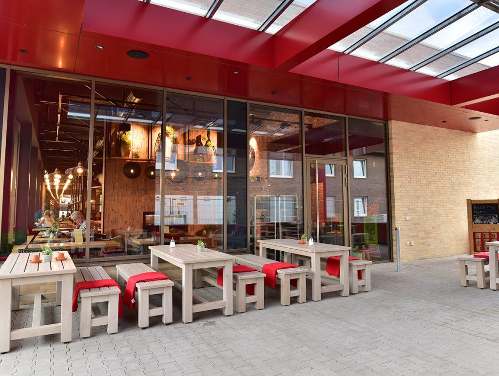 Außengastronomie, Bäckerei und Café, Bank Outdoor, Tisch Outdoor