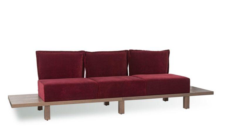 Polsterbank 40897, Sofa mit Ablage, Gastronomie Möbel