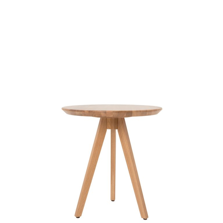 Loungetisch 30036, Tischplatte rund, Massivholz