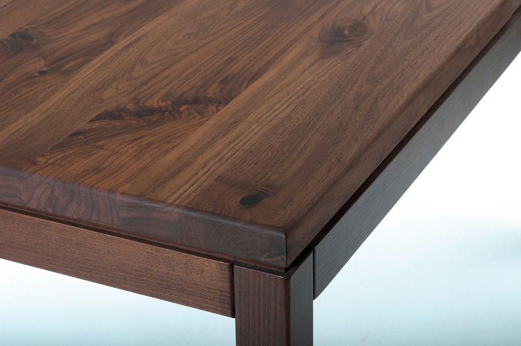 Tischplatte 35 mm Nussbaum, Massivholz, Gastro Tische