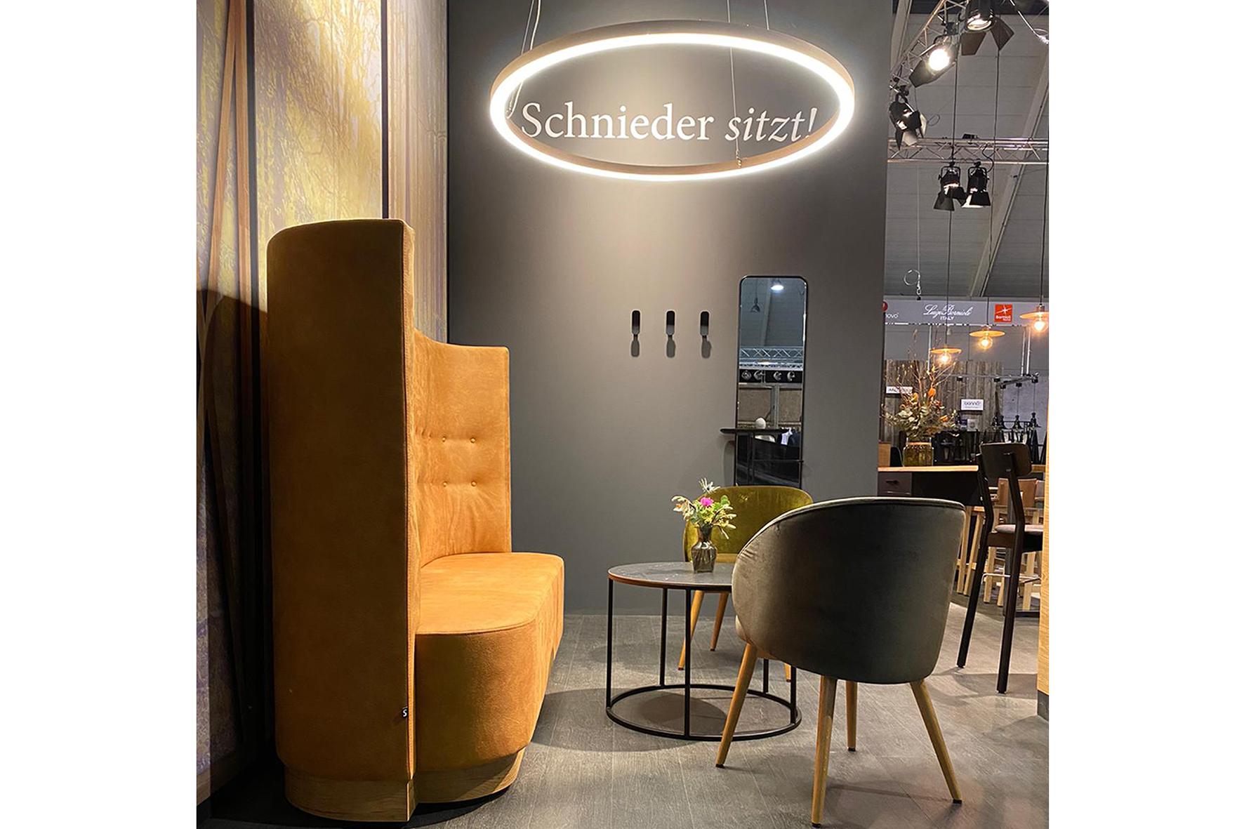 Intergastra Messestand Lounge Bereich Stuhlfabrik Schnieder