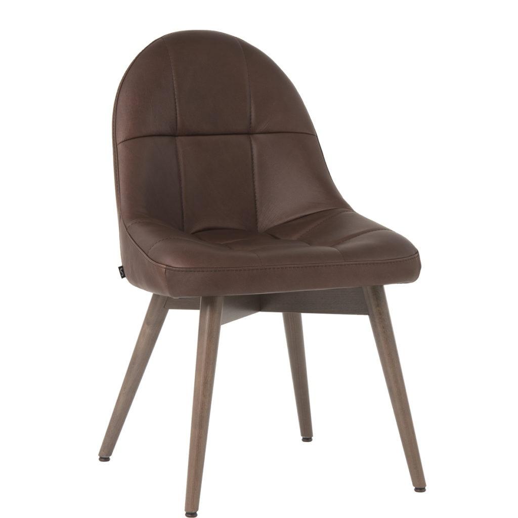 Polsterstuhl Tina gesteppt 11524, Lederstuhl Stuhlfabrik Schnieder