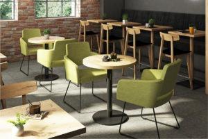 Café Einrichtung Sessel Marvin Stuhl Mats Gastronomiemöbel Stuhlfabrik Schnieder