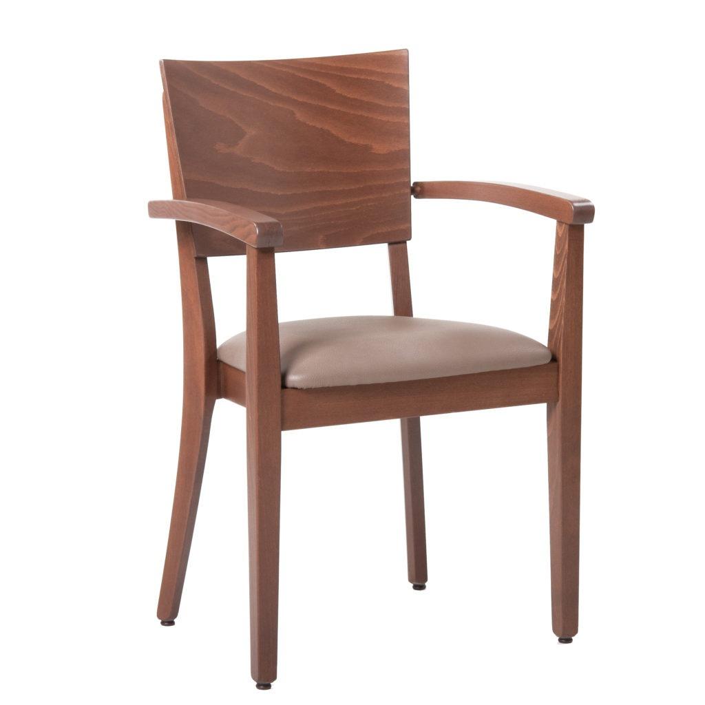 Stapelstuhl mit Armlehnen Luxor 12466 Stuhlfabrik Schnieder