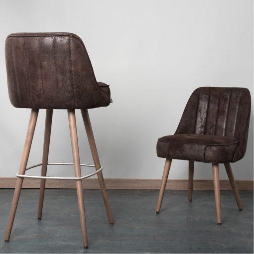 Gastro-Stuhl Roque, gesteppt, Hocker Roque 10530 Möbel