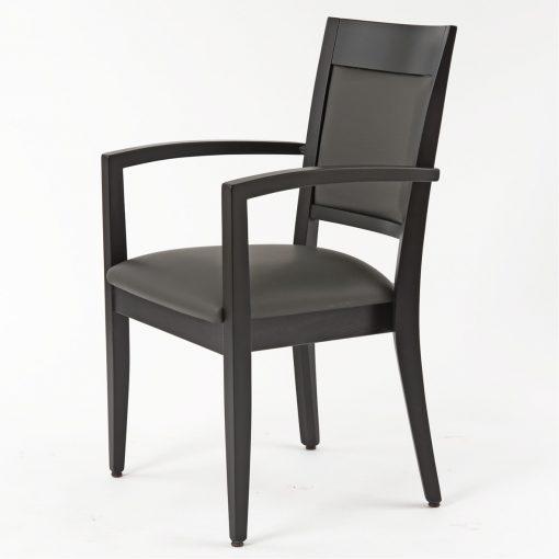 Stapelstuhl mit Armlehnen, Stuhl stapelbar, Gastronomiestuhl,