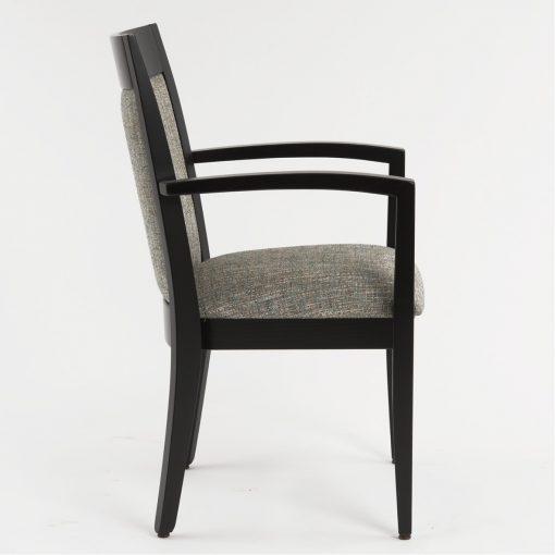 Stapelstuhl Vincent mit Armlehnen, Stuhl stapelbar, Gastronomiestuhl,