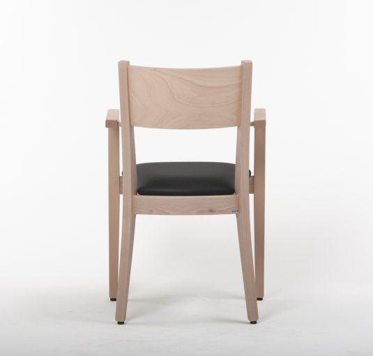 Stapelstuhl Torino, Gastro-Stuhl mit Armlehnen, Holzstuhl