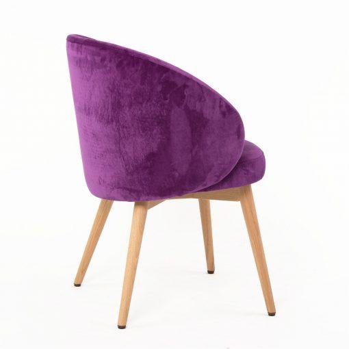 Polsterstuhl Maria lila Gastronomie Möbel Stuhlfabrik Schnieder
