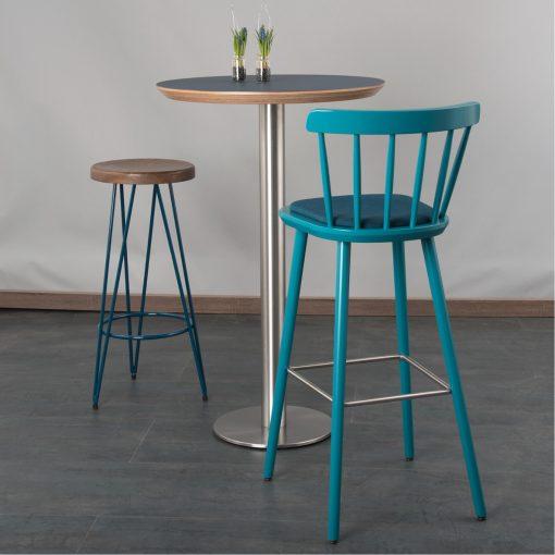 Hocker Industrie-Look, Stehtisch rund 31538-r Stuhlfabrik Schnieder
