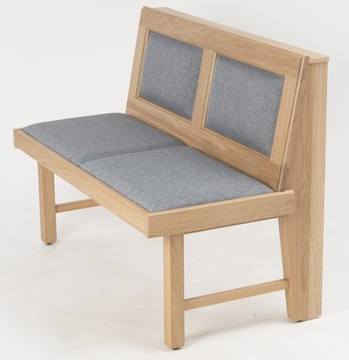 Holzbank mit Sitz- und Rückenpolster, Gastronomie Möbel