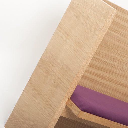 Holzbank mit Sitzpolster 40494, Gastro-Möbel