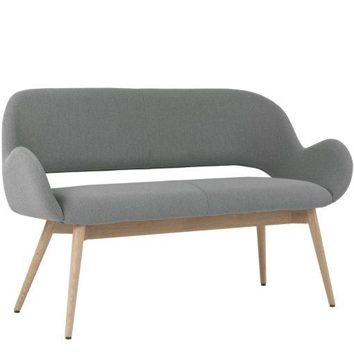 2-Sitzer Juna 40519, Zweisitzer Polsterbank Stuhlfabrik Schnieder