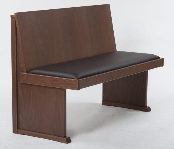 Holzbank mit Sitzpolster 40606, Gastronomie Möbel