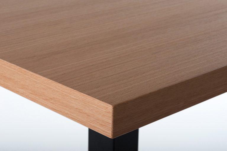 Tischplatte 50 mm Eiche furniert, Furnier, Tisch