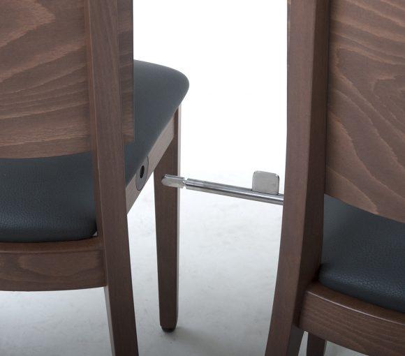 Reihenverbinder Stühle, Saalbestuhlung