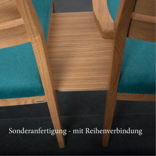 Stapelstuhl Jakob mit Reihenverbindung Einrichtung Kirche Stuhlfabrik Schnieder Objekteinrichtung