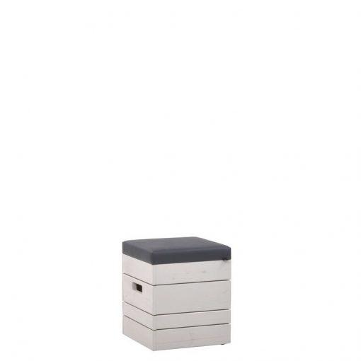 Hocker 10985 mit Polstersitz Outdoor-Möbel, Outdoormöbel