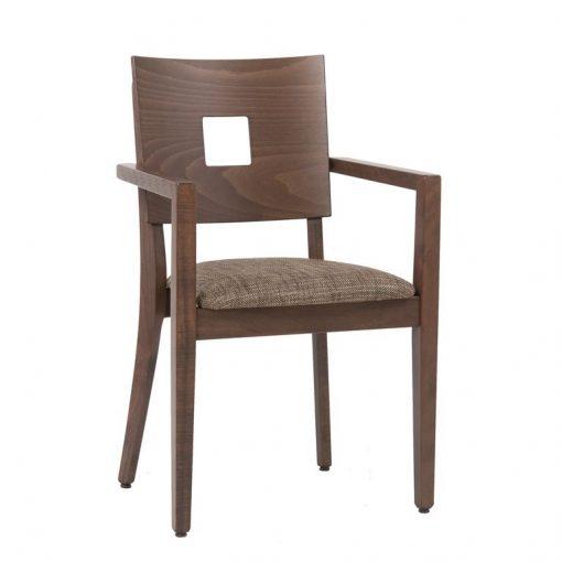 Stapelstuhl mit Armlehnen 12463, Gastronomiestuhl, Möbel, Stuhl mit Armlehnen stapelbar