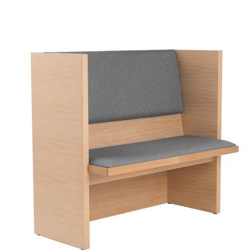 Holzbank mit Sitz- und Rückenpolster 40495