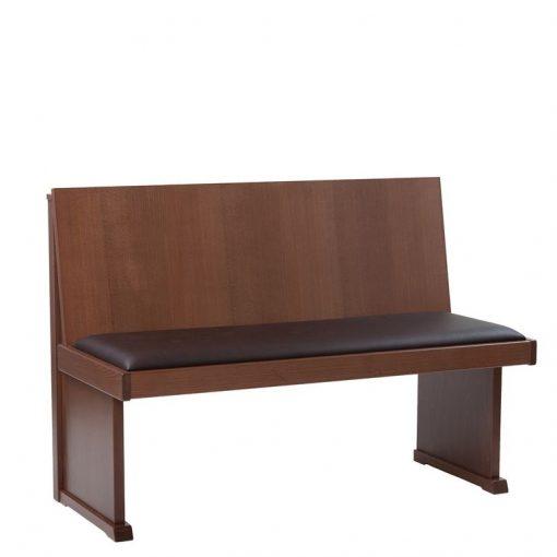 Holzbank mit Sitzpolster 40606 Gastronomie Möbel
